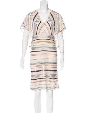 M Missoni Short Sleeve Midi Dress None