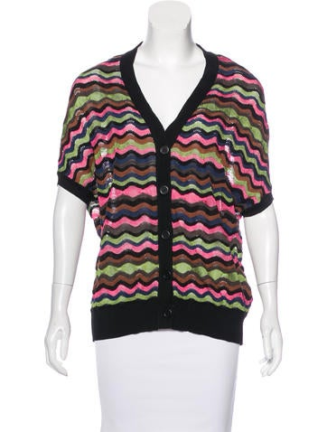 M Missoni Short Sleeve Knit Cardigan None