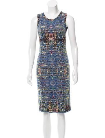 M Missoni Printed Midi Dress None