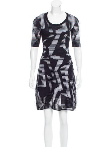 M Missoni Printed Knee-Length Dress None