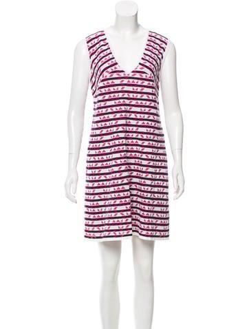 M Missoni Intarsia Knit Shift Dress w/ Tags None