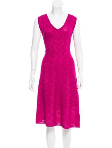 M Missoni Virgin Wool Midi Dress None