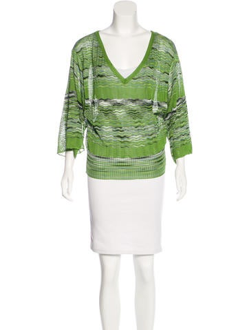 M Missoni Knit Patterned Top None