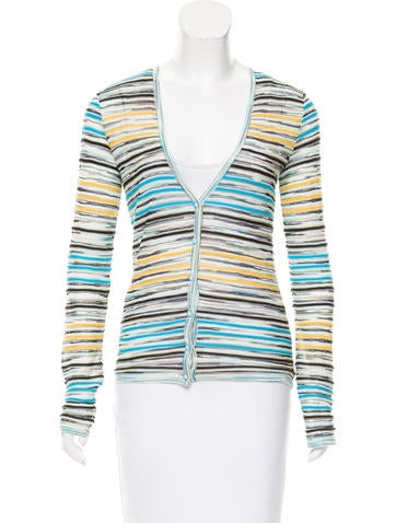 M Missoni Stripe Knit Cardigan None