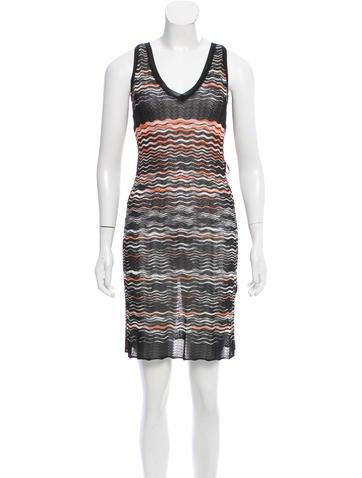 M Missoni Sleeveless Knee-Length Dress None
