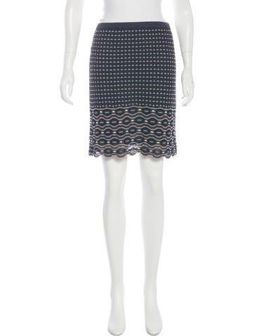 M Missoni Knit Pencil Skirt None