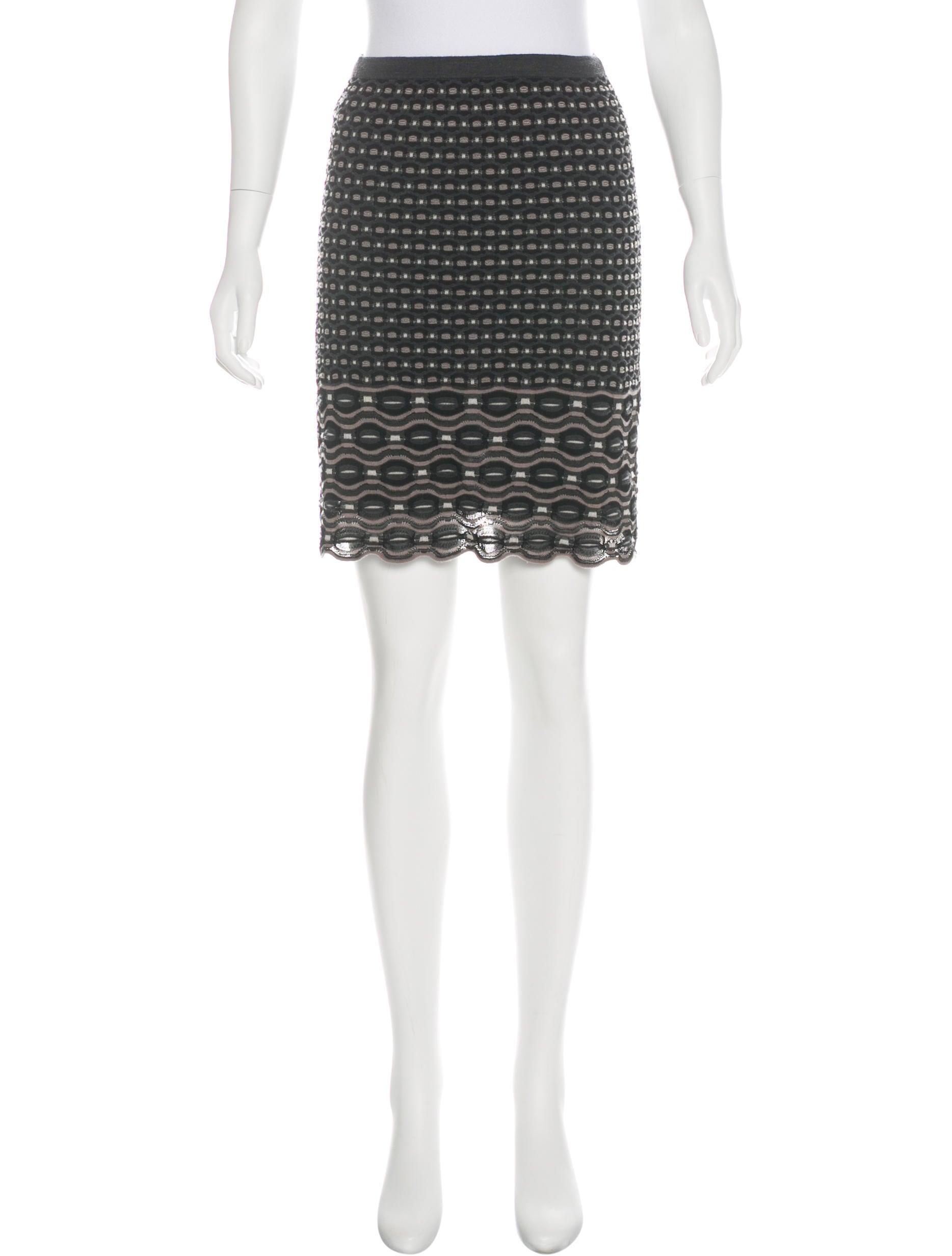 m missoni knit knee length skirt clothing wm440729