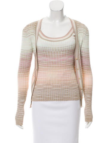 M Missoni Button-Up Cardigan Set None