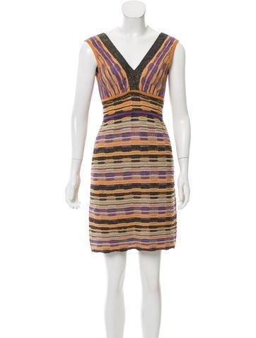 M Missoni Intarsia Knit Mini Dress None