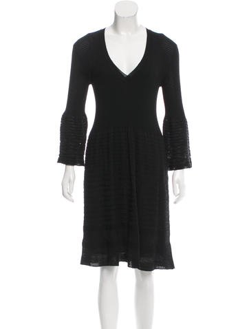 M Missoni Semi-Sheer Knit Dress None