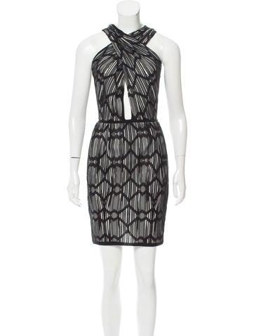 M Missoni Intarsia Knit Paneled Dress None