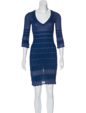 M Missoni V-Neck Sweater Dress None