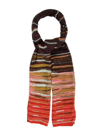 M Missoni Wool Open Knit Scarf None