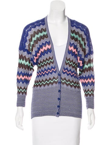 M Missoni Patterned V-Neck Cardigan None