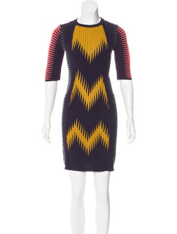M Missoni Patterned Mini Dress None