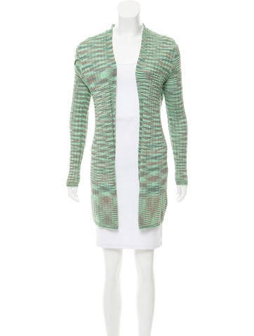 M Missoni Striped Open Front Cardigan None