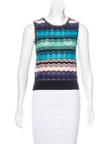 M Missoni Chevron Knit Sleeveless Top w/ Tags None