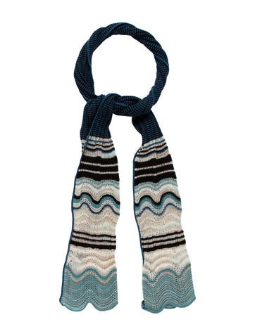 M Missoni Rib Knit Metallic Scarf None