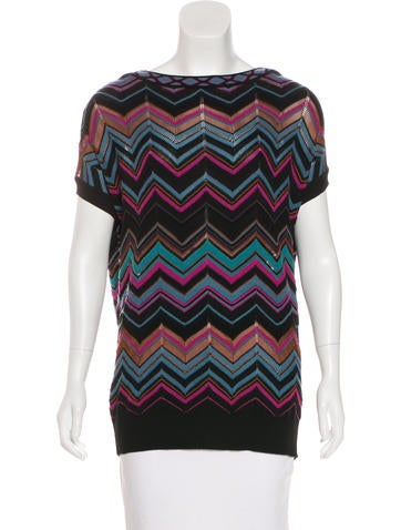 M Missoni Patterned Knit Top None