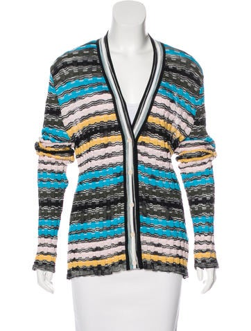 M Missoni Striped Knit Cardigan None
