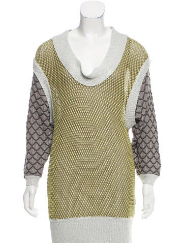 M Missoni Patterned Long Sleeve Sweater None