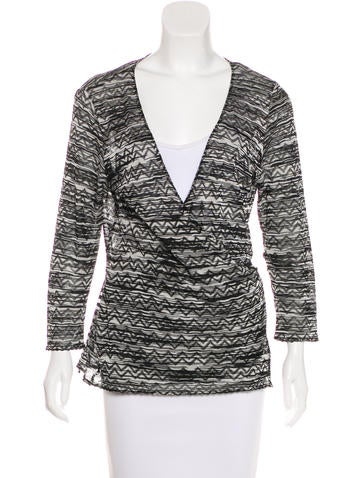 M Missoni Knit Wrap Top None