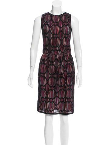 M Missoni Striped Knee-Length Dress None
