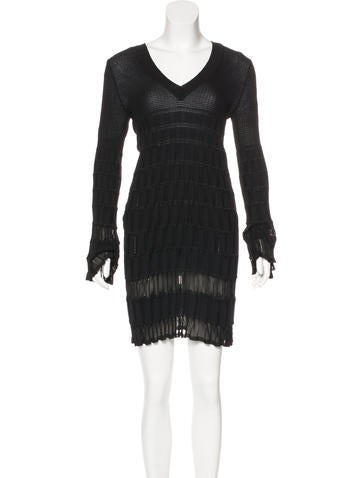 M Missoni Long Sleeve Mini Dress None