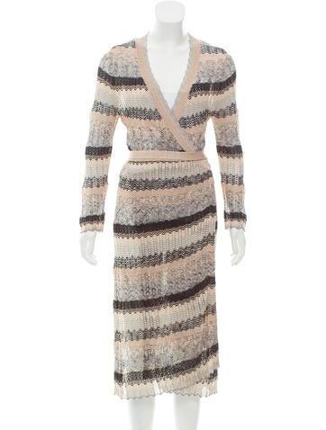 M Missoni Midi Wrap Dress None