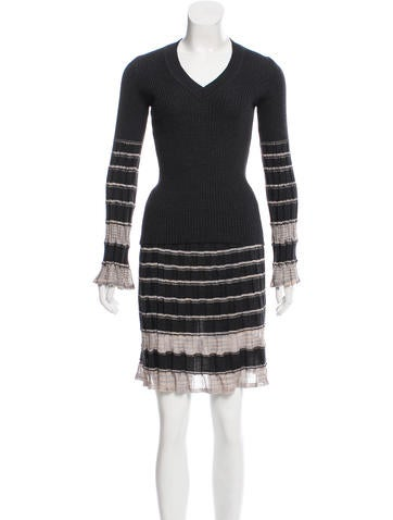 M Missoni Striped Knit Skirt Set None