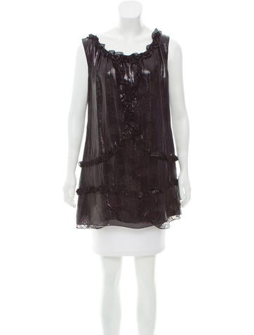 M Missoni Sleeveless Silk Tunic None