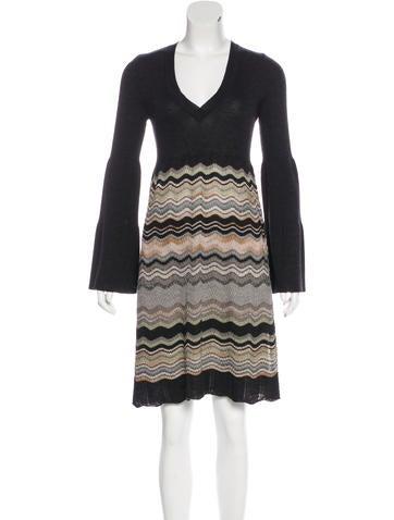M Missoni Wool-Blend A-Line Dress None