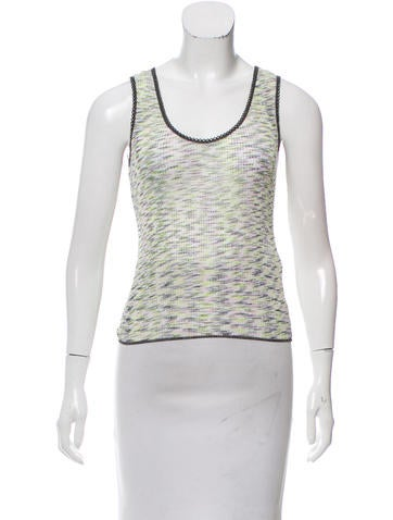 M Missoni Sleeveless Rib Knit Sweater w/ Tags None