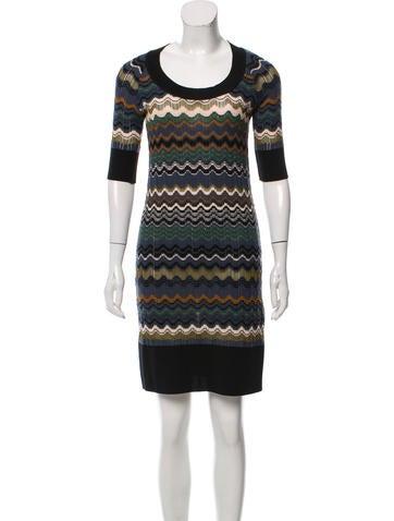 M Missoni Rib-Knit Patterned Dress None