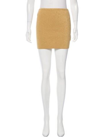 M Missoni Metallic Mini Skirt None