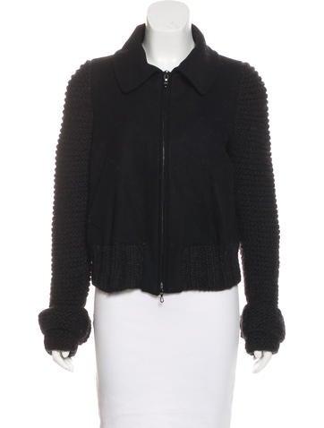 M Missoni Virgin Wool Zip-Up Jacket None