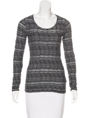 M Missoni Knit Long Sleeve Top None