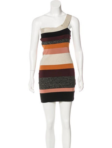 M Missoni Knit One-Shoulder Dress None