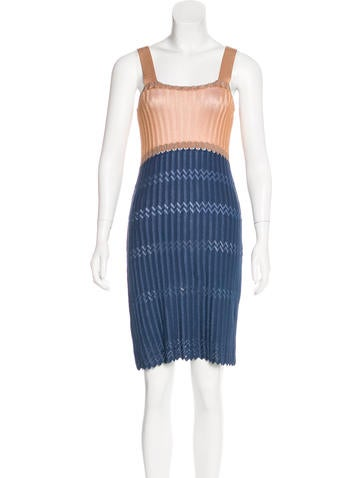 M Missoni Sleeveless Knit Midi Dress None
