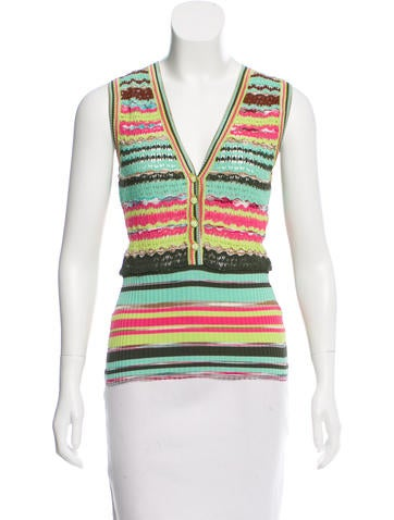 M Missoni Patterned Sleeveless Top None