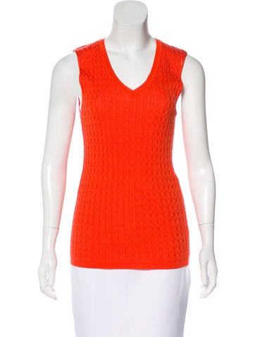M Missoni V-Neck Sleeveless Top None