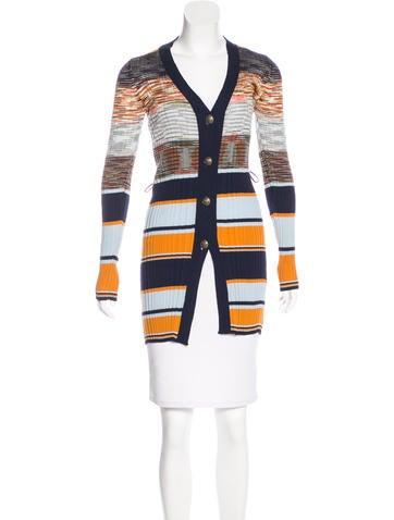M Missoni Rib Knit Button-Up Cardigan None