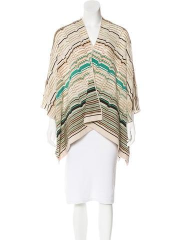 M Missoni Wool Knit Poncho None