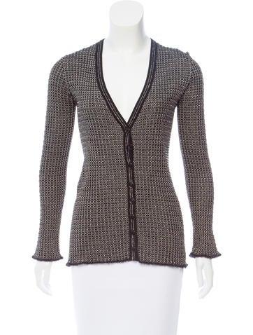 M Missoni Wool-Blend Rib-Knit Cardigan None