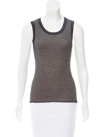 M Missoni Rib-Knit Sleeveless Sweater None