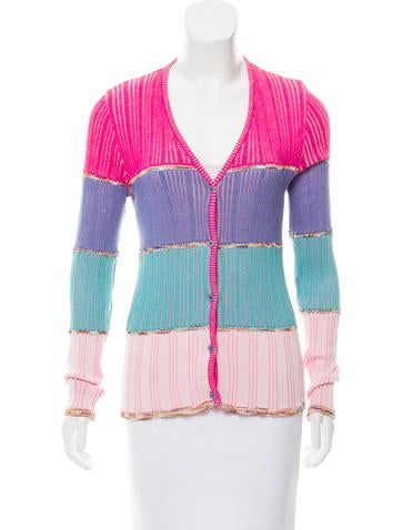 M Missoni Button-Up Knit Sweater None