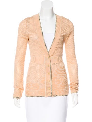 M Missoni Button-Up Knit Cardigan None