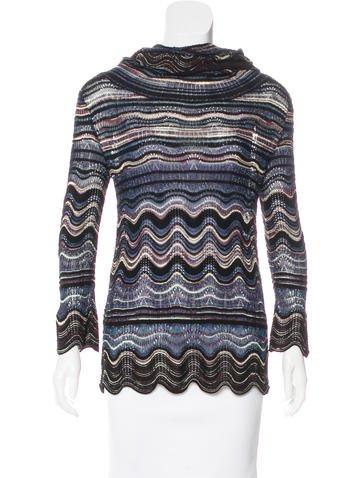 M Missoni Knit Metallic-Accented Top None