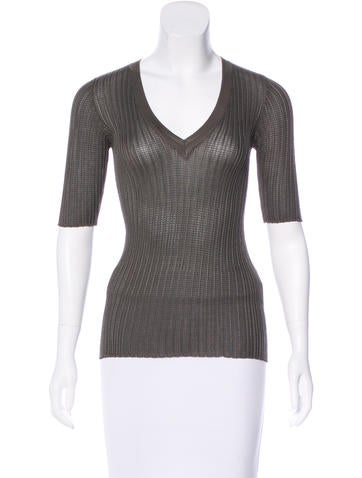M Missoni Three-Quarter Sleeve Knit Top None