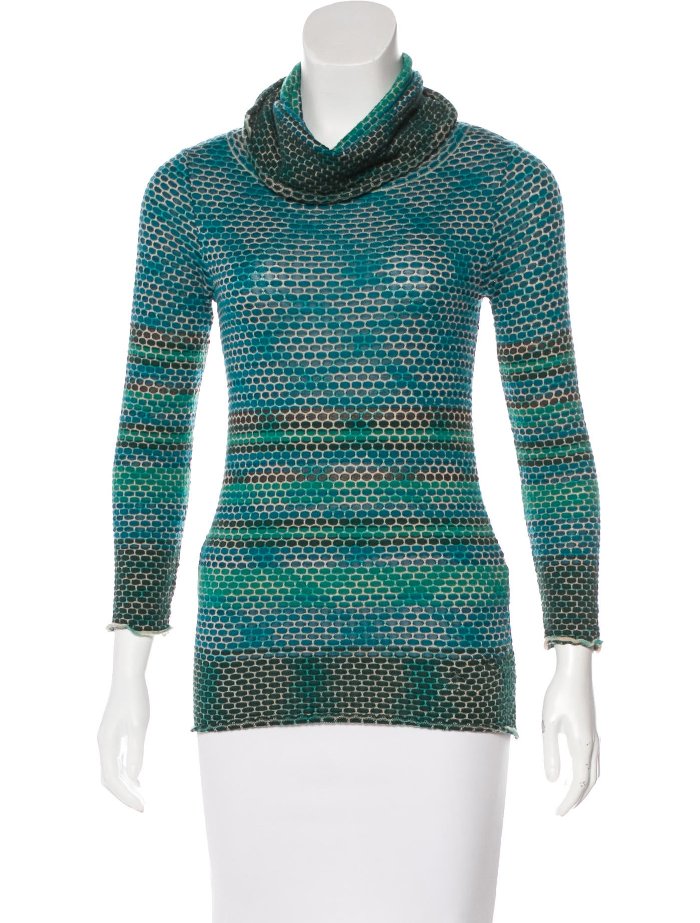 M missoni wool knit long sleeve top clothing wm443305 for Best wool shirt jackets